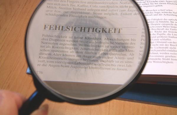 Brillengläser werden für stark Fehlsichtige wieder von den Krankenkassen bezuschusst