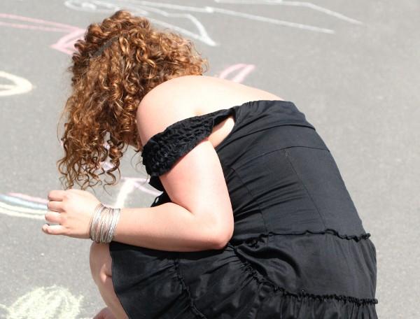 Therapeuten protestierten budnesweit mit einer Kreideaktion