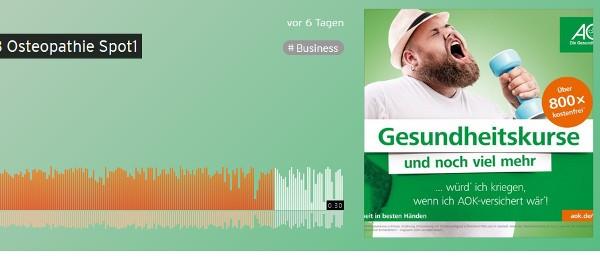 Audio-Clip auf Soundcloud.de zur AOK-Kampagne