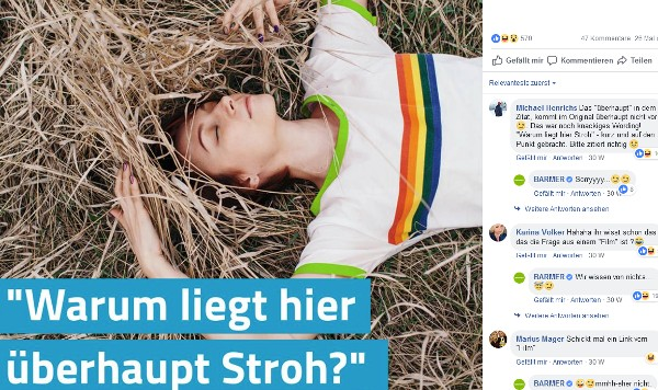 Social Post der BARMER mit User-Kommentaren