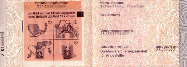 Bild zum Beitrag Sozialversicherungsausweis