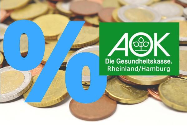 Die AOK Rheinland/Hamburg senkt den Zusatzbeitrag