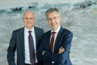 Martin Litsch (re) und Jens Martin Hoyer (li) - Vorstände des AOK Bundesverbandes