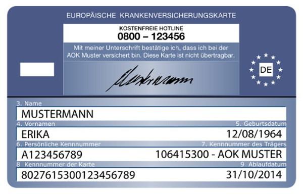 Europäische Krankenversichertenkarte EHIC