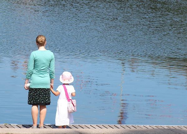 berufstätige Frau mit Kind