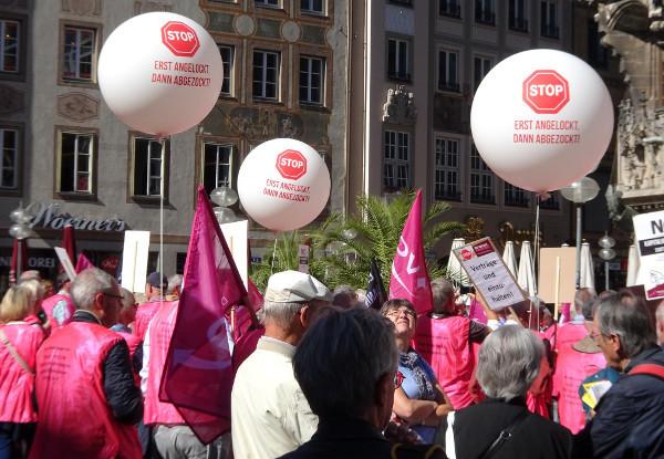 Proteste gegen Doppelverbeitragung von Betriebsrenten und Direktversicherungen